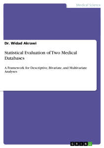 Cover_Statistical Evaluation of 2 Medical Databases